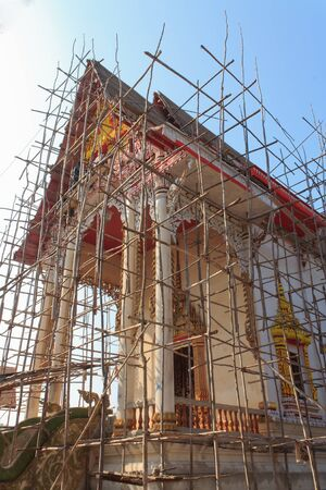 Renovation of old Buddhist church, udontani in Thailand