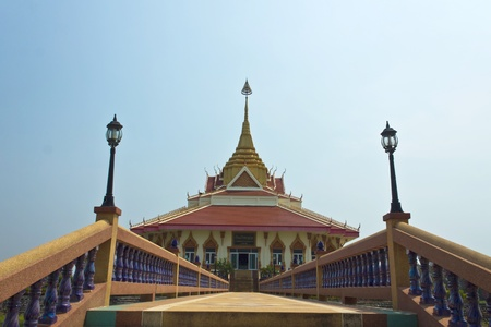 The pavilion was built to allow people of every religion is the worship of the Buddha statue is located at Ban Phu. photo