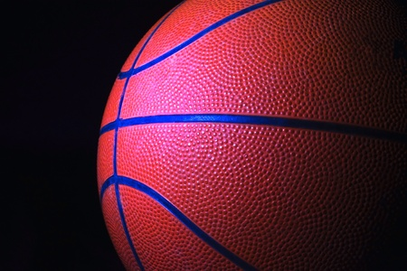 Basketball shot from the side with a black background  Stock Photo - 12539606