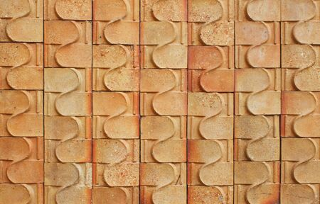 Red brick walls with a pattern and put together photo