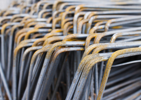 Rebar bending shape with rust photo
