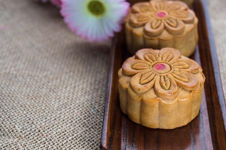 ollas de barro: Pasteles de luna para el Festival del Medio Otoño chino Foto de archivo