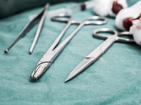 suture and dressing wound Archivio Fotografico