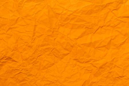crumpled orange paper for background Imagens