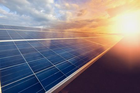 panneau solaire sur fond de ciel Banque d'images