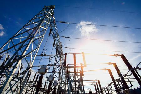 Main Power Plant Energy ideas And energy saving Stock Photo