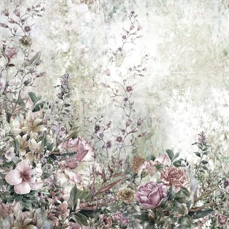 Flores abstractas de la acuarela. flores de primavera multicolor