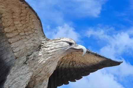 eagle fly sculpture photo