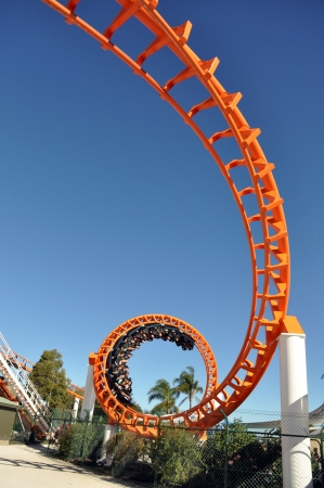 coaster: Orange Roller coaster Editorial