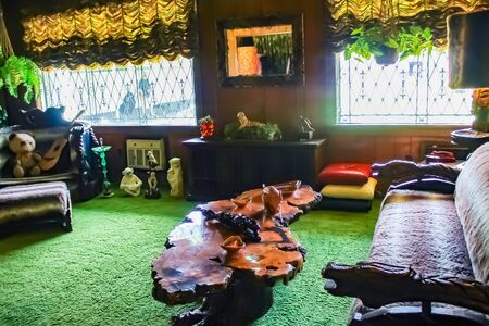 Famous Jungle Room Graceland - Memphis, Tennessee - October 4, 2017 Editorial