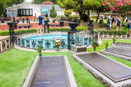 Minnie Mae Presley Grave, Elvis Presley Grave Graceland - Memphis, Tennessee - October 4, 2017 Editorial