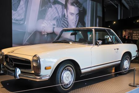 Elvis's White Car Graceland - Memphis, Tennessee - October 4, 2017 Editorial