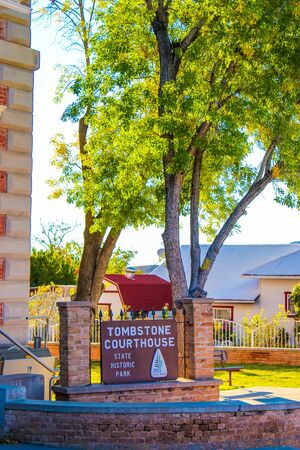 Tombstone Courthouse State Park - Tombstone, Arizona - Nov 2, 2018 Editorial