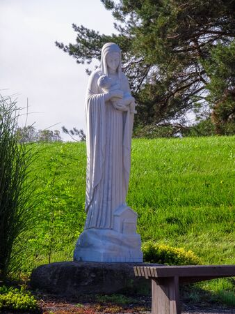 Statue out fron of Abby of Genesee Mmonistary