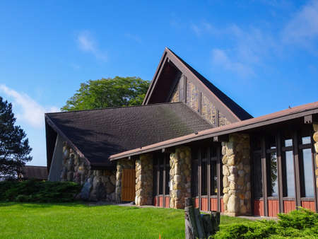 Front of the Abby of Genesee Monistary - Abby of Genesee - Piffard, NY - September 18, 2018 Editorial