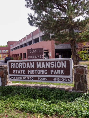 Sign at the entrance of Riordan Mansion State Park