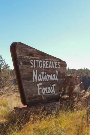 Sign at Sitgreaves National Forest Editorial