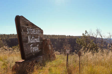 Sign at the entrance of Sitgreaves National Forest