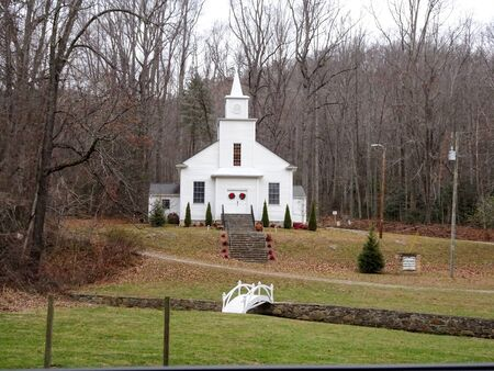 Beautiful white church out in the country