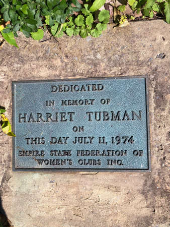 Dedication plaque for Harriet Tubman in Auburn NY