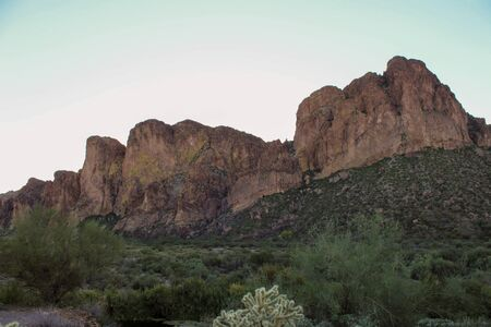 Stunning cliff views in Tonto National Forest Stock Photo