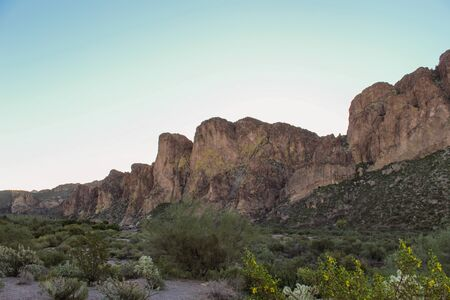 Beautiful scenic views of cliffs in Tonto National Forest