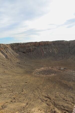 Amazing photo of the Metor Crater located in Winslow, Arizona