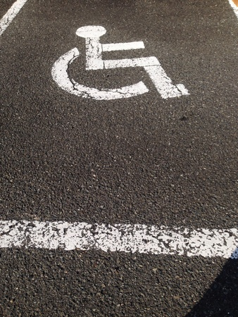 disable: Disable car parking Stock Photo