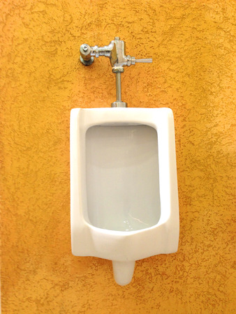 empty the bowel: Urinals in public toilet