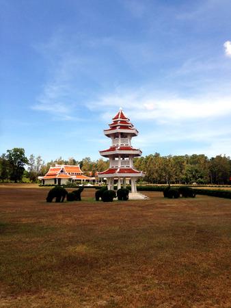 chinese garden: Pagoda Tower, Chinese Garden Stock Photo