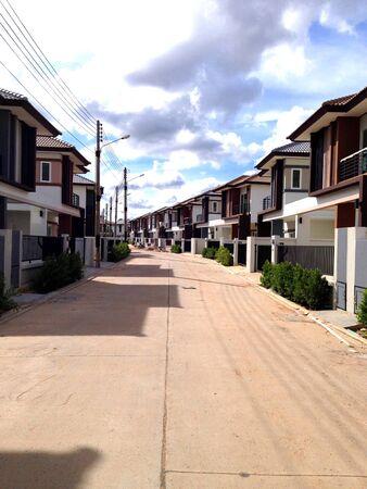 estate: photo of housing estate Stock Photo