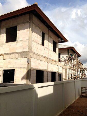 house under construction: house under construction Stock Photo