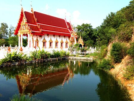 spiritual architecture: Buddhist temple in Thailand