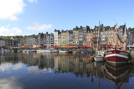 basse normandy: Honfleur, France Editorial