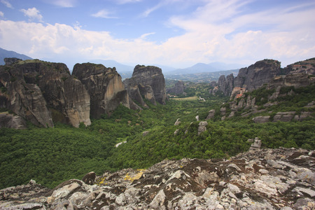 Monastery of Meteora and rocks photo