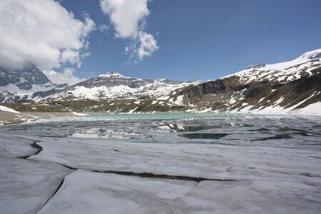 Frozen ice on Italian Alps