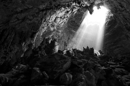 Light in cave Reklamní fotografie