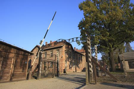 Auschwitz concentration camp entrance Redakční