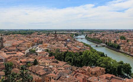 Verona skyline with Adige river at noon  Reklamní fotografie