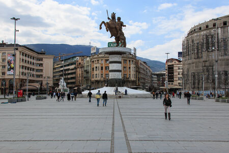 Square Makedonia, the capital Redakční