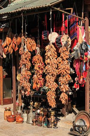 bazar: Souvenirs for sale in Skopje old bazar