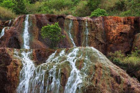 jiufen: Golden waterfall in Jiufen old street - Taiwan