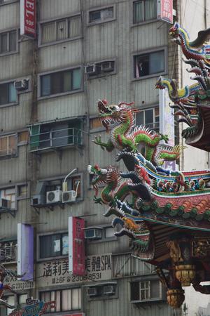 est: Taoist temple rooftop, Taiwan