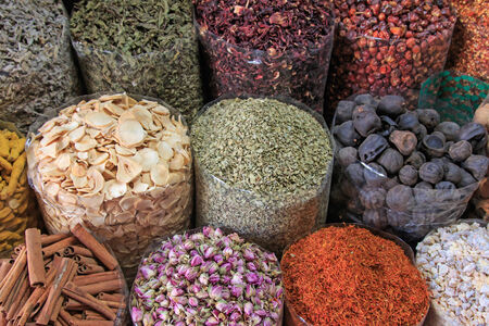 souk: Spices in the spice souk in Dubai....