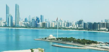 buildings on water: Abu Dhabi City View