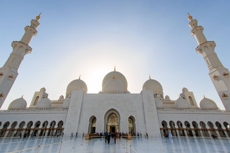 abudhabi: Sheikh Zayed mosque in Abu-Dhabi Editorial