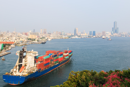 Harbor of Kaohsiung in Taiwan