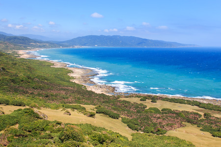 kenting: Coastline of Kenting National Park, South Taiwan Stock Photo