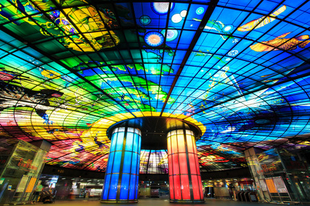 Kaohsiung, Taiwan - November 05, 2014: The Dome of Light at Formosa Boulevard Station, the central station of Kaohsiung subway system in Kaohsiung City. Redakční
