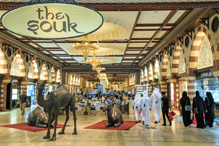 mall of the emirates: Dubai, United Arab Emirates - October 11,2014: The Gold Souq in Dubai Mall, world